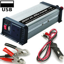 1200w 600w 24v DC - 240 AC Modified Sine Wave Mains Power Inverter + USB Socket
