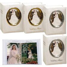 3 Pioneer WFM-46 Oval Framed Wedding Albums Holds 100 4 x 6 Photos -Asst De