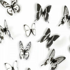 Umbra CHRYSALIS Butterfly Wall Decor Black/Clear Acetate Set of 15 (470340-188)