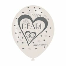 30th Pearl Anniversary 6 Balloons Party Decorations Helium Wedding