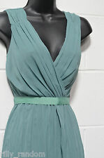 Ladies Green Sleeveless Chiffon Dress UK Size 12 Petite from Principles BNWT