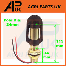 Rotating Flashing Amber Beacon Mount Flexible DIN Pole Tractor Mounting Light