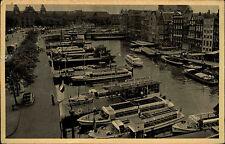 Amsterdam Niederlande Holland AK ~1940/50 Reederij Plas Reederei ungelaufen