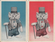 #Vintage Swap / Playing Card - 2 SINGLE   - WELL DRESSED CAT