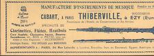 PUBLICITE 27 EZY MANUFACTURE THIBERVILLE CLARINETTES FLUTES HAUTBOIS 1923
