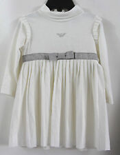 ARMANI BABY IVORY LONG SLEEVES BABY DRESS      6 MTS  MSRP$165