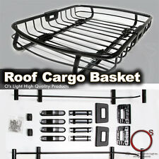 Land Rover Roof Top Rack Car Cargo Carrier Traveling Basket Black