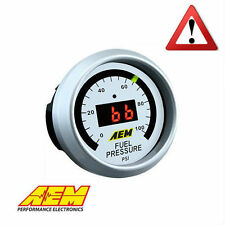 AEM DIGITAL DISPLAY FUEL PRESSURE GAUGE 0 to 100 PSI 30-4401