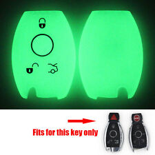 Night Glow Silicone Shell Smart Remote Key Case Cover For Benz E/R/GL/SLK Class