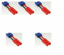 Lot(5) EC5 Male Plug to 4MM Banana Connector Adapter 12AWG for RC HXT Power