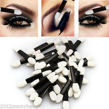 50X Disposable Sponge Make-Up Cosmetics Eye Shadow Eyeliner Lip Brush Applicator