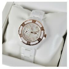 GC Ladies Sport Class XL-S Glam White & Gold Ceramic Watch by Guess (X69003L1S)