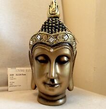 Exclusive Unique Large Buddhas Head Statue. Adorned In QUARTZ Swarovski Elements