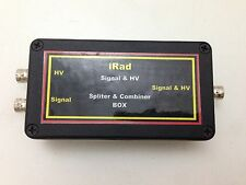 Splitter Combiner Box for Scintillation Detector Signal & HV Bias-T with 3 BNC