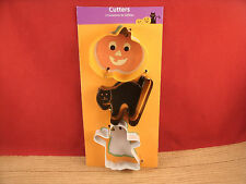 TIN METAL HALLOWEEN CUTTER  CUTTERS PUMPKIN CAT GHOST ORANGE BLACK
