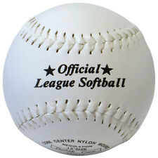 "Softball en cuir synthétique official league ball-taille 12"" cork centre rrp £ 10"