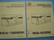MQ Power 150KVA Generator  DCA-150SSK Instruction &  Parts Manuals