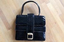 Tasche Handtasche Damen Schlangen Otik schwarz black gold 80er True VINTAGE 80s