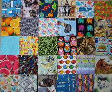 "110  NOVELTY FABRIC  5"" Squares I SPY QUILT No Duplicates. Much more than 100."