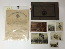 Us Military Lot - 1919 US Army Honorable Discharge / Photos / Postcards