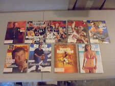 LOT OF 9 SPORTS ILLUSTRATED MAGAZINES,TYRA BANKS,BIRD,JORDAN,MANNING,SIMON,DITKA