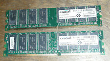 2GB (2 x 1GB) 1024MB PC3200 DDR RAM Desktop MEMORY 400MHz low density non-ECC
