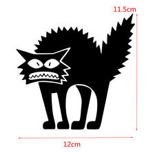 1pc universal Car Black funny Cat Removable HALLOWEEN PVC Decal Window Sticker