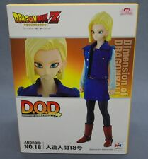 Dimension of DRAGONBALL DOD Android 18 WITH BONUS MINI CELL Megahouse Japan (S)