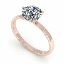 Genuine 1.0 CTW Certified Diamond Solitaire Engagement Ring 18K Mart... Lot 5550