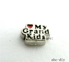 10pcs I love Grand Kids Floating charms fit Glass memory floating Locket 950