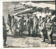 1937 Press Photo Midland Bank British AF Volunteer Reserve Pilots & Biplanes
