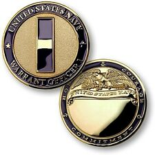 Navy Warrant Officer 1 Challenge Coin W1 WO1 One US USN Rank Insignia Chief CWO