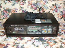 RARE! Teac V-95RX Stereo Cassette Deck Auto Reverse DBX + Wood Case - WORKS!