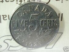 Canada 1925 Five Cents  ICCS -Scarce