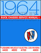 1964 Buick Repair Shop Manual Riviera Wildcat LeSabre Electra Chassis Service