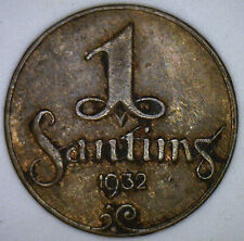 1932 Copper Latvia 1 Santing Coin XF