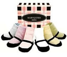 NEW Trumpette MARYJANES PASTELS Baby Girl Non-skid  Socks 0-12 mos. 6 pairs Gift