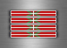 4x sticker adesivi adesivo vinyl auto moto tuning bandiera paesi Baschi euskadi