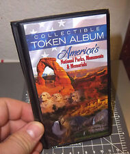 Collectible National park Token Album, holds 30 tokens, organize your tokens!