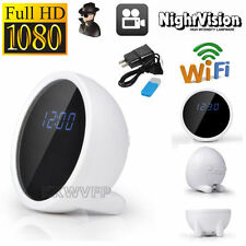 1080P HD Spy Hidden Alarm Clock WiFi Table Clock IP Camera Wireless Camcorder DV