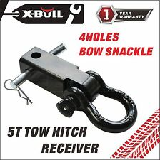 "X-BULL Trailer Hitch Shackle Bracket 2"" Receiver 5T 3/4 inch Recovery D-ring"