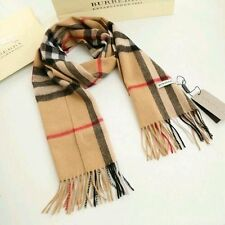 *New100% CASHMERE BRAND NEW AUTHENTIC BURBERRY SCARF CAMEL CHECK BLACK RED WHITE