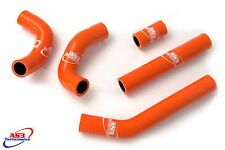 KTM 125 200 EXC 2012-2016 HIGH PERFORMANCE SILICONE RADIATOR HOSES ORANGE