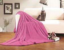 Ultra Super Soft Fleece Plush Luxury BLANKET All Sizes - 6 colors!