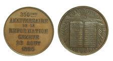 pci2462) Medaglie Estere SVIZZERA-GINEVRA - Medaglia 1885 anniversario riforma