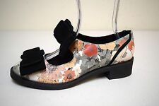 ASOS Floral Printed Leather Mary Janes Chunky Heels Size 9 US/7 UK NWOB