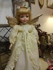"Heirloom Treasures Angel Collectible Edition Porcelain Doll 15"" Tall"