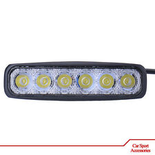 Car Accessories - 1x Car LED light 18W Cold White for Drive Offroad - 6 LED 12V