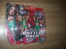 THE BELLAS WWE FIGURES MOC BELLA TWINS (NIKKI BELLA & BRIE BELLA) - WWE BATTLE