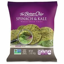 The Better Chip Spinach/kale Chips - Gluten-free - Spinach & Kale - Bag - 1.50